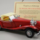 Franklin Mint 1935 Red Mercedes 500K Special Roadster Die Cast Scale 1:24