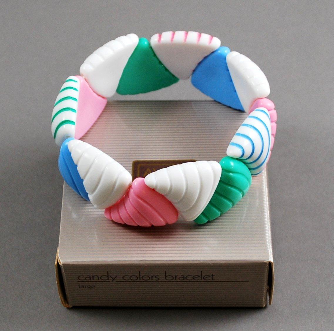 1986 Avon Candy Colors Stretch Plastic Bracelet