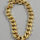 1989 Avon Men's Squared Links Goldtone Chain Vintage Bracelet
