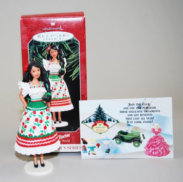 Barbie Christmas Tree Decorations.1998 Hallmark Mexican Barbie Third Dolls Of The World