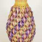 1986 Avon Pastel Basket Collection Wicker White Ceramic Bud Vase