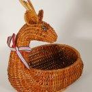 1987 Avon Christmas Wicker Menagerie Reindeer Basket