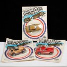 Zee Windracers 1981 Set of 3 Die Cast Metal Cars Red Corvette
