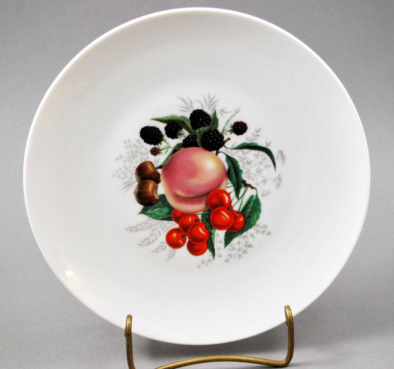 Bavaria Schwarzenhammer Porcelain Collector Plate Plum Decor