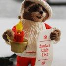 Hallmark 1992 Santa's Club List Keepsake Lighted Handcrafted Christmas Ornament