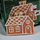 American Greetings Terra Cotta Gingerbread House Christmas Tree Ornament
