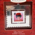 Hallmark Barbie Silken Flame Stamp 1999 Christmas Tree Ornament