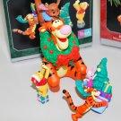 1998 Hallmark Winnie the Pooh Collection Disney Set of Christmas Tree Ornaments