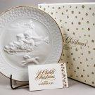 1985 Avon Vintage Christmas Plate Series A Child's Christmas w/ 24K Gold