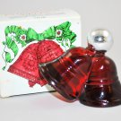Vintage Avon Christmas Bell Decanter with  Sweet Honesty Cologne 1 FL. OZ.