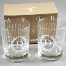 1989 Avon Personally Yours Initial D Old-Fashioned Glasses
