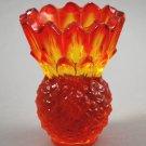 Indiana Glass Amberina  Sunset Pineapple Candleholder