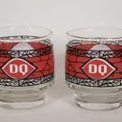 Set of 2 Vintage Dairy Queen Coca Cola  Christmas Old-Fashioned Glasses