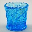 Kemple Vintage Yutec  Blue Glass Toothpick Holder