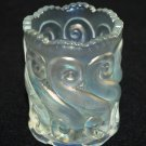 L.G. Wright Iridescent Frosted White S Repeat Toothpick Holder