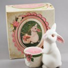1980 Avon Bunny Bright Candle Holder Spiced Apple