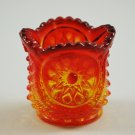 Vintage L.E. Smith Oneata Chimo Glass Amberina Toy Sugar or Toothpick Holder