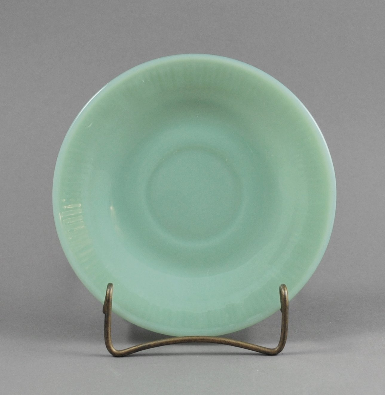Anchor Hocking Jade-ite Fire King Green Jane Ray Saucer