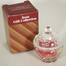 Avon Crystal Apple Candle Box Trinket Box with Candlette