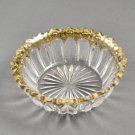McKee EAPG The Prize Clear w/ Gold Trim Sauce Dish Bowl