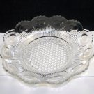 Lausitzer Glas of Germany Crystal Clear Glass Thumbprint Bowl