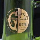 Vintage Greentown Festival Green Souvenir Glass Mug