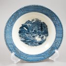 Royal China Currier & Ives Blue Soup Bowl Early Winter