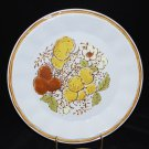 Vintage Japan Harvest Hand Painted Stoneware Dinner Plate