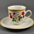 Sheffield Strawberries 'N Cream Stoneware Coffee Tea Cup & Saucer