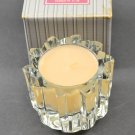 Avon Vintage 1981 Ultra Crystal Candle Holder with Foxfire Candle