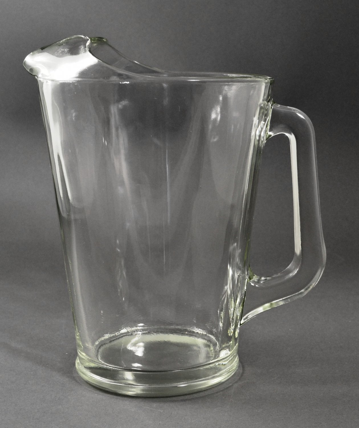 Vintage Clear Glass Pitcher w/ Ice Lip