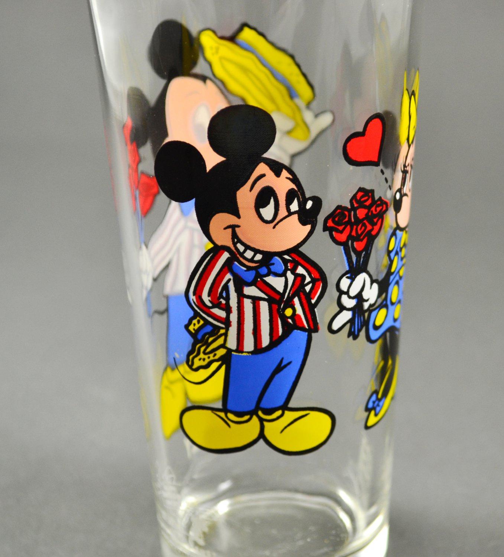 1978 Walt Disney Happy Anniversary Mickey & Minnie Pepsi Drinking Glass