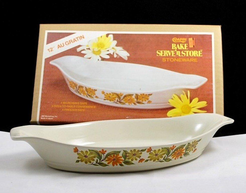 Capri Bake Serve 'n Store Stoneware Large AuGratin Baking Dish