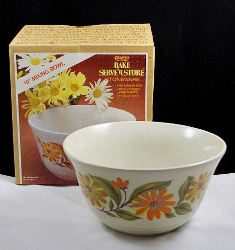 Capri Bake Serve 'n Store Mixing Bowl Stoneware JMP Marketing
