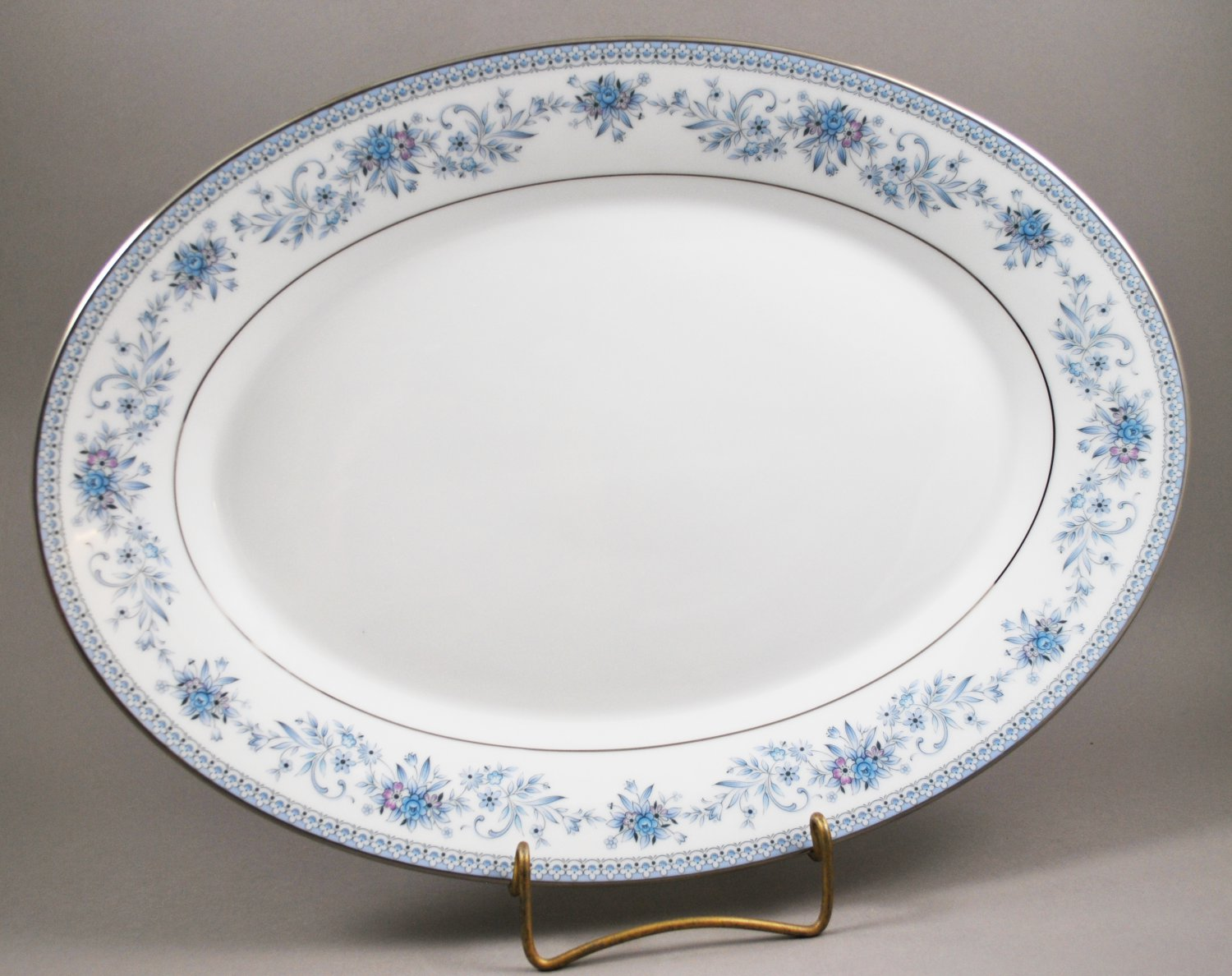 Noritake China Blue Hill 2482 Oval Meat Platter or Vegetable Plate