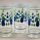 Set of 3 Vintage Swiss Alpine Chalet Stetson Mid-Century Glass Tumblers