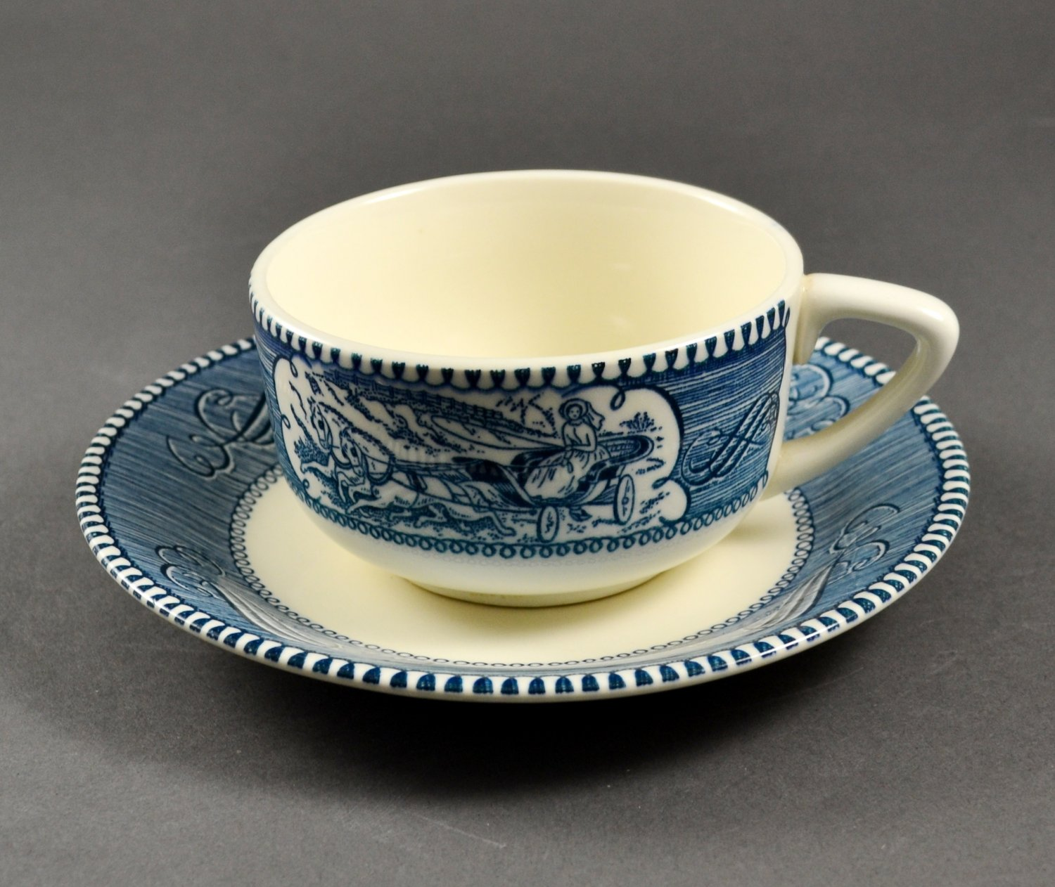 Vintage Royal China Currier & Ives Tea or Coffee Cup & Saucer