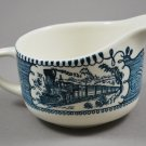 Royal China Currier & Ives Creamer Train Non Scrolled