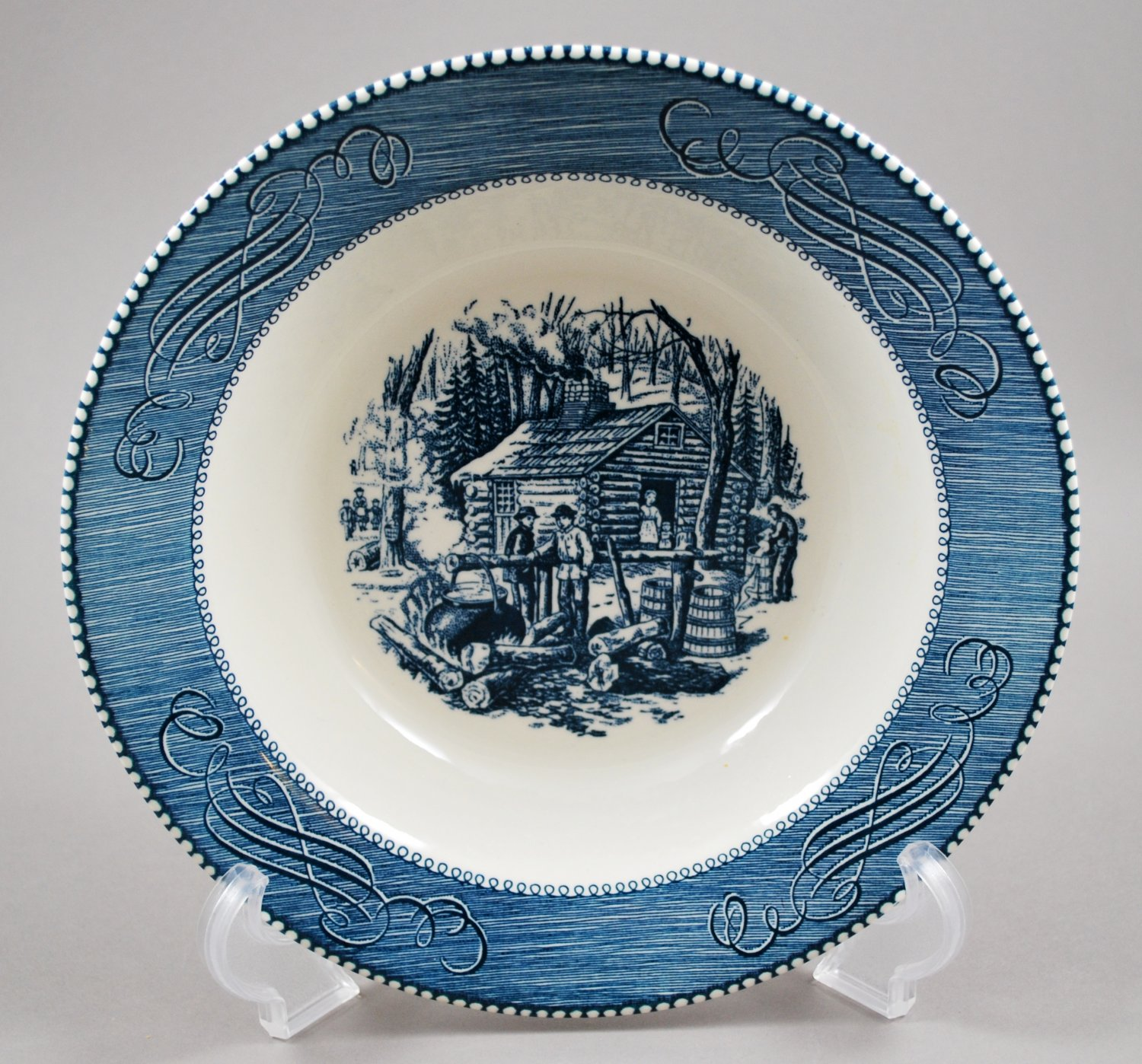 Royal China Currier & Ives Vegetable Bowl Maple Sugaring