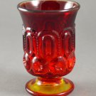 L. E. Smith Vintage Moon & Stars Amberina Flame Open Glass Urn
