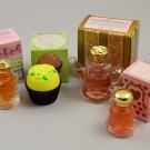 Vintage Avon Go Round, Bon-Bon, Flower Fancy  & Lovechimes Decanters w/ Colognes