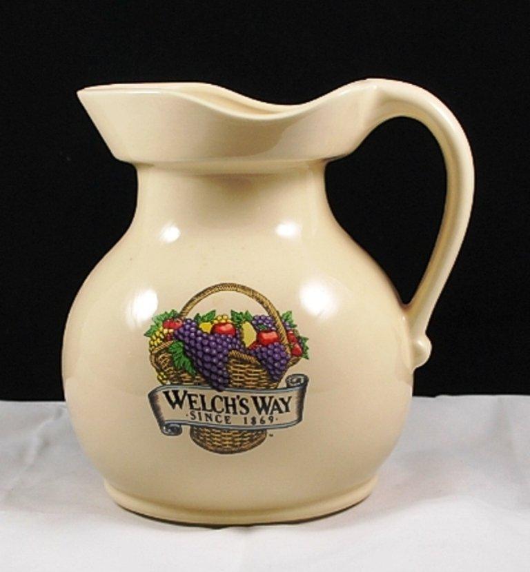 Vintage McCoy Pottery Welch's Way Ivory Pitcher