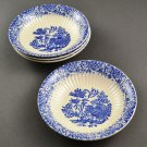 Set of 4 Blue Willow w/ Inner Ribbing Dessert Bowls by Royal China