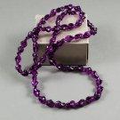 1987 Avon Renaissance Beauty Plastic Beaded Necklace in Amethyst Purple