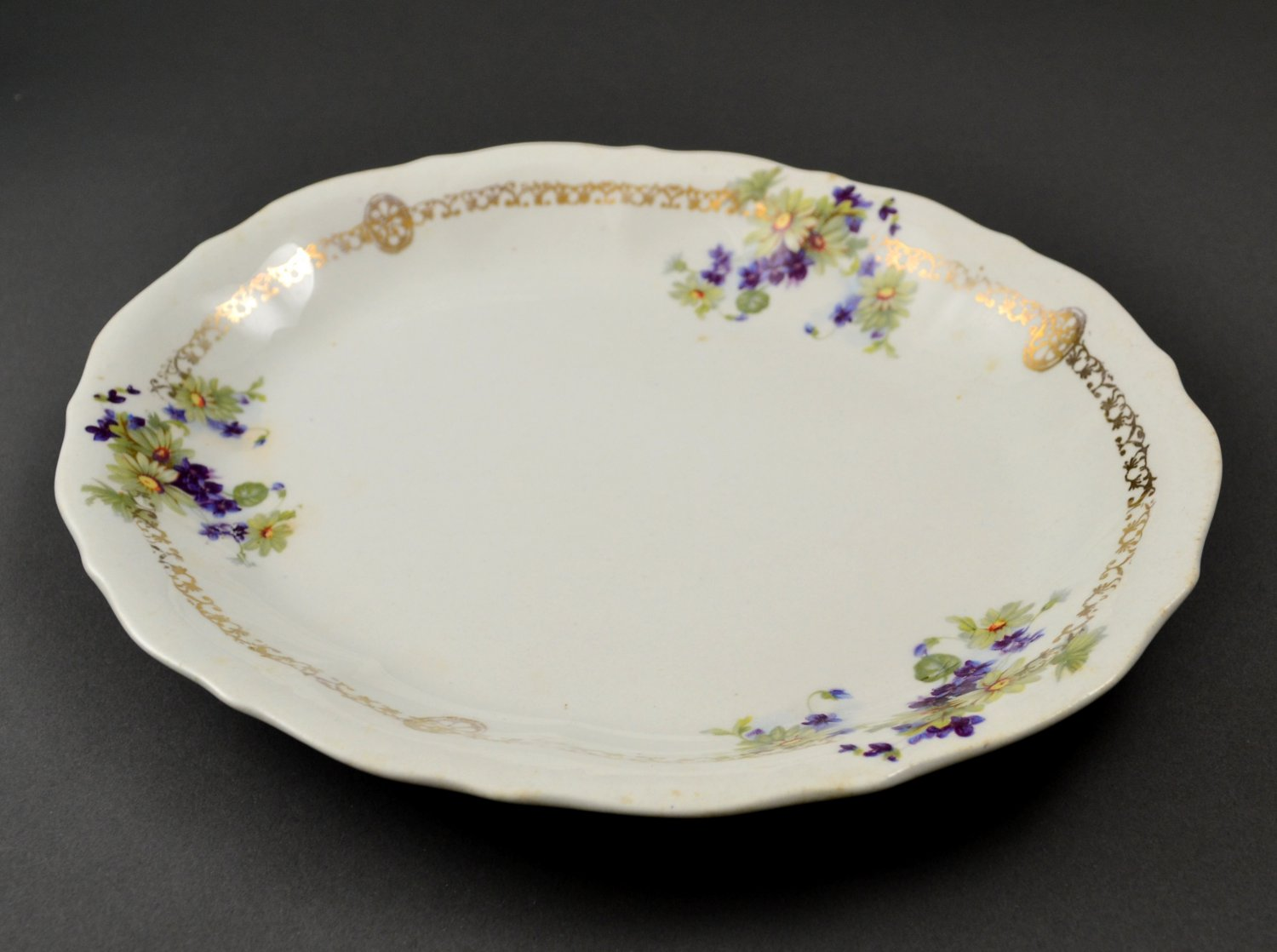 Vintage Ohio China Company Imperial China White Floral Platter