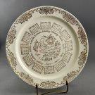 1959 Taylor Smith Taylor Calendar Porcelain Collector Plate w/ Gold Trim