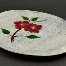 Blue Ridge Southern Pottery Mayflower Blue  w/ Red Flower Handled Platter Skyline