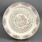 1960 TST Calendar Porcelain w/ Gold Trim Windmill Sailboats Collector Plate