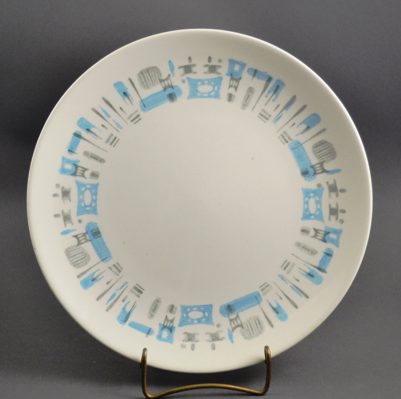Royal China USA Blue Heaven Mid-Century Modern Dinner Plate