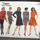 Vogue Sewing Pattern 2963 Basic Design Uncut Misses Dress Skirt and Top Size 12